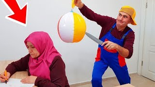İn The Pool BALLOON in Fanta PRANK! ONLY BALLOON Fanta hair KEREM'İN JOKE 1