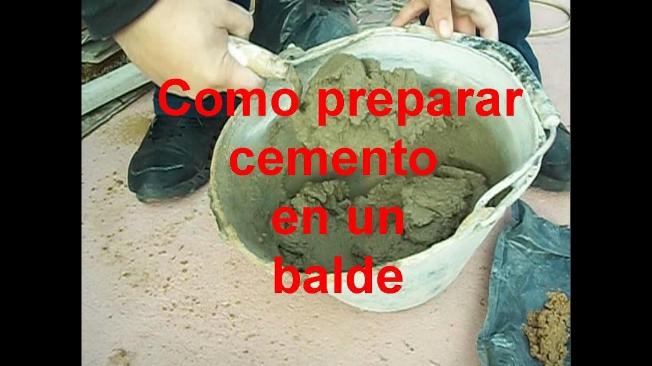 Como preparar cemento en el balde youtube for Como hacer una pileta de cemento