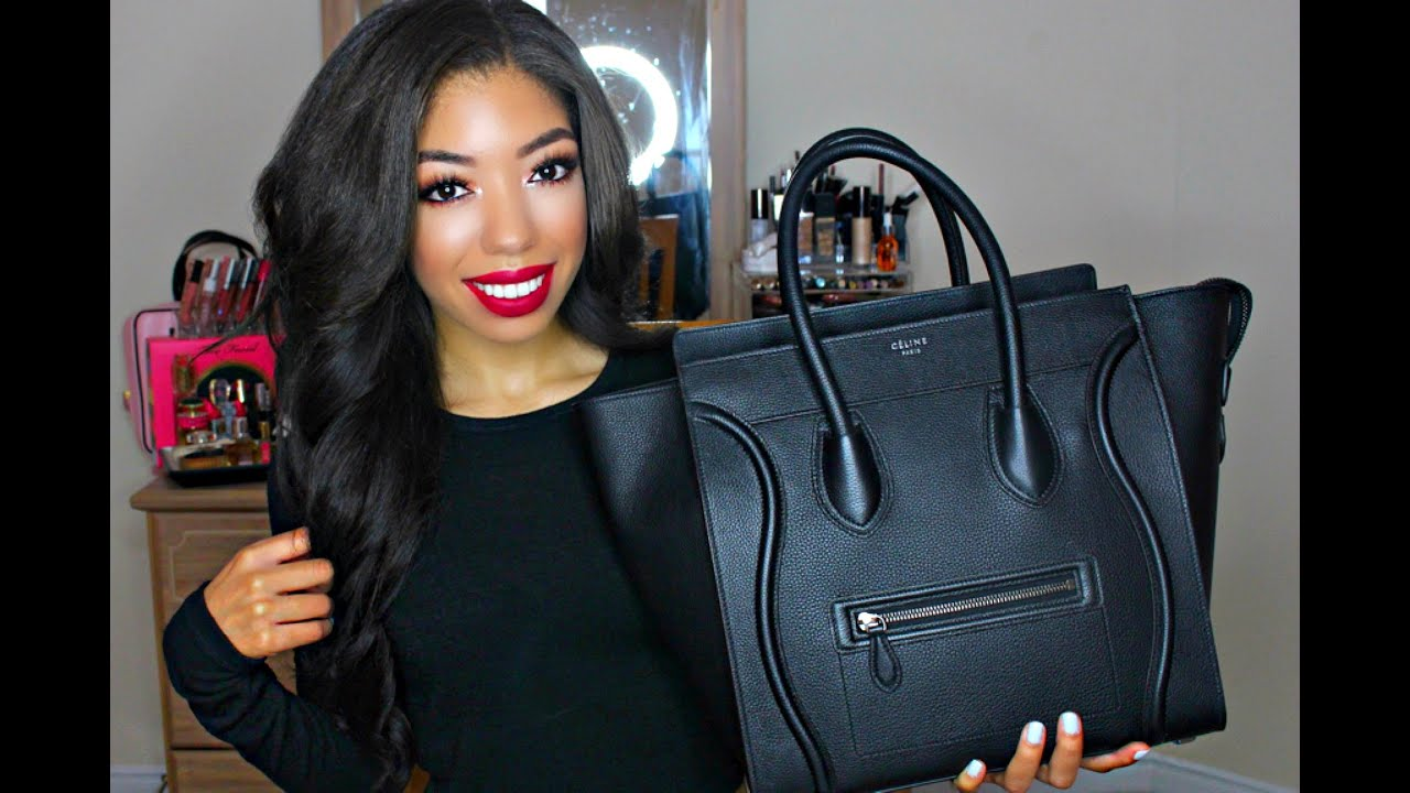 What\u0026#39;s In My Bag 2015 | Celine Mini Luggage + Review - YouTube