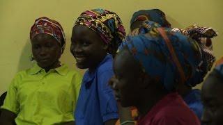 Freed Chibok girls meet Nigerian minister
