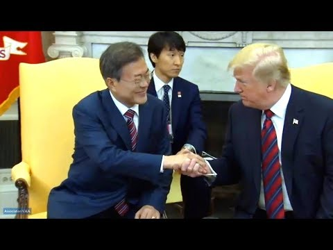 President Trump meets with the President of the Republic of Korea Moon  May 22, 2018