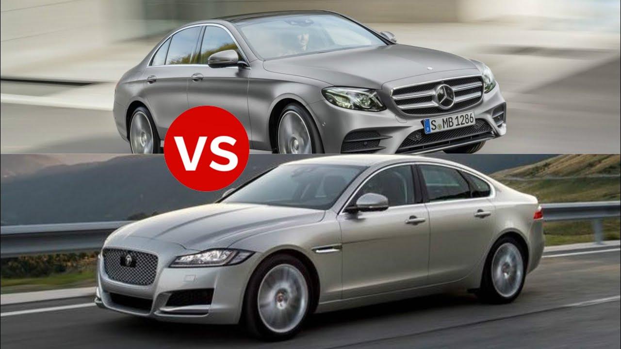 2017 jaguar xf vs mercedes e class youtube for Mercedes benz e class 2016 vs 2017