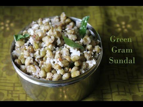 Green Gram Sundal - Pacha Payaru Sundal - Navrathri Recipes