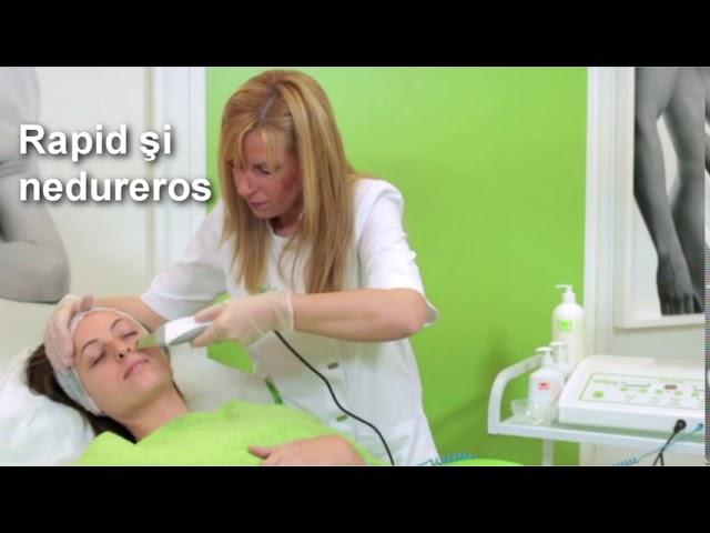 Tratament de curatare faciala cu ultrasunete si energie galvanica- Proskin