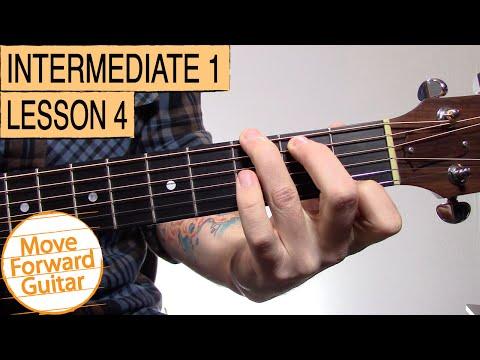 Intermediate Guitar 1 - G7, D7, G5, Cadd9, Em7 Chords - YouTube