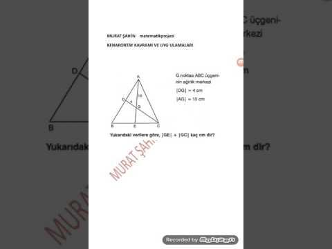 Kenarortay Teoremi Ve Uygulamaları