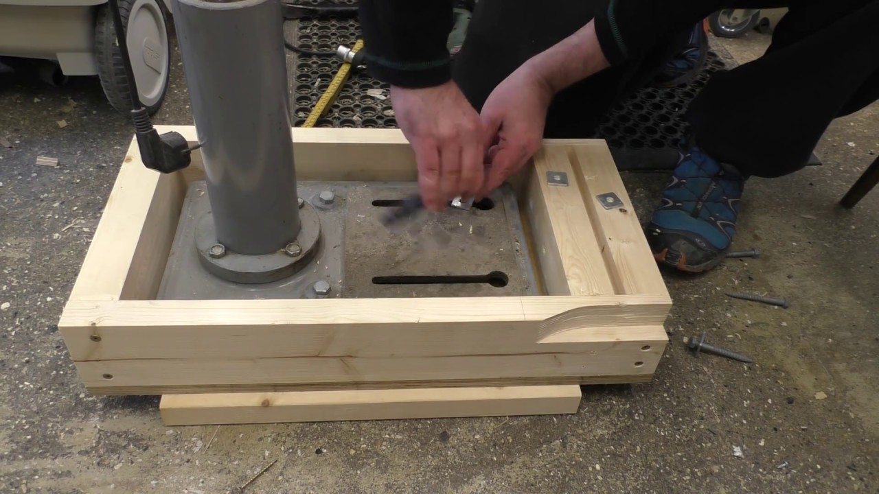 Mobile Base For Drill Press Youtube