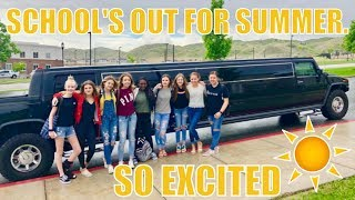 PICKED UP IN A LIMOUSINE THE LAST DAY OF SCHOOL | THE LEROYS