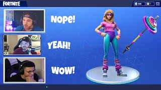 STREAMERS REACT TO *NEW* AEROBIC ASSASSIN & MULLET MARAUDER SKINS! FORTNITE