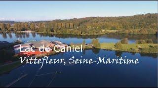 Lac de Caniel vue du ciel Vittefleur, Seine Maritime