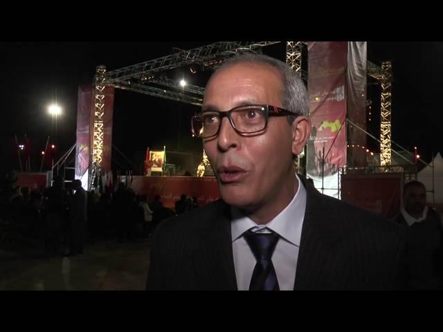 El secretario general del MDJS en la inauguración del Festival de Guelmim