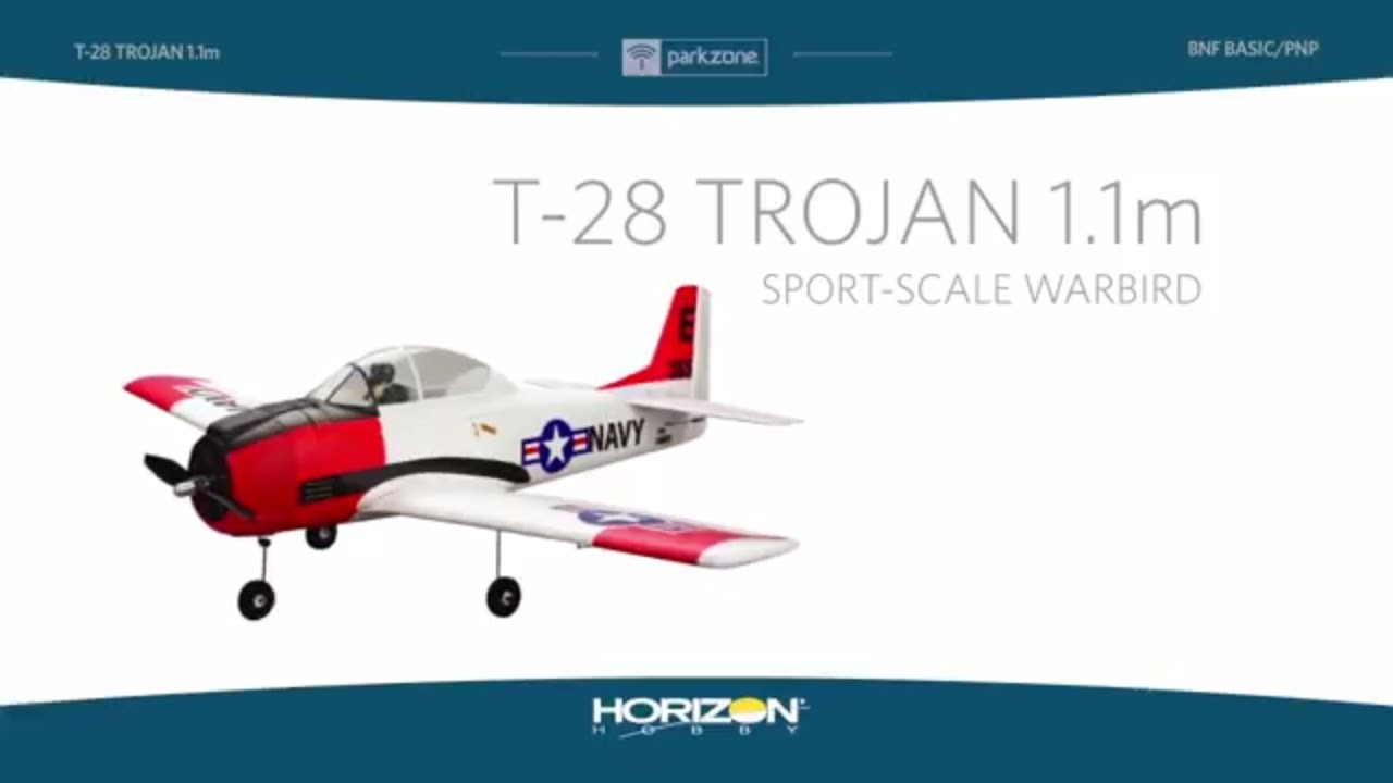 ParkZone T-28 Trojan 1.1m PNP and BNF Basic