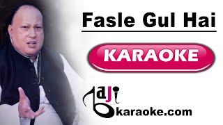 Fasle gul hai - Video Karaoke - Nusrat Fateh Ali Khan - by Baji Karaoke