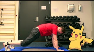 working out with 8fit and pokemon