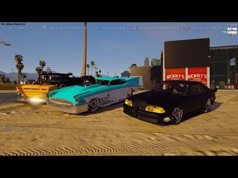GTA 5 FiveM RP | Illegal Drag Cars Hit The Streets! Pro Mod Foxbody &  Cruise To The New Drag Strip
