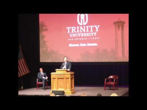 David Cameron Lecture, Trinity University, Jan.31, 2017