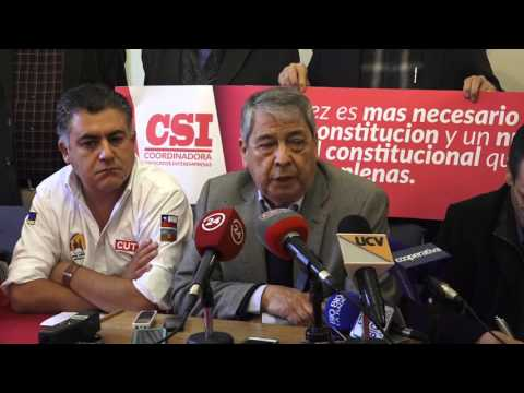Conferencia de Prensa de la CUT completa