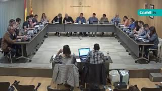 Ajuntament de Calafell: sessió plenària ordinària, 2 de maig   de 2017