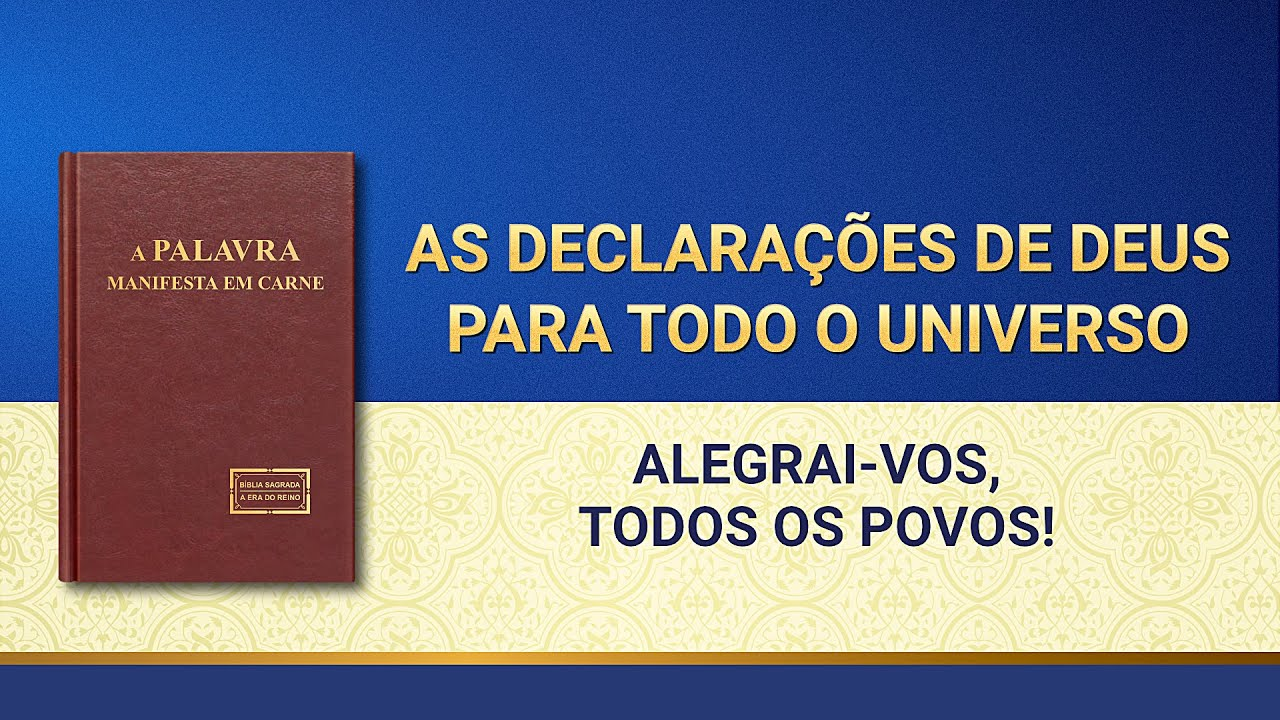 """Palavras de Deus """"Palavras de Deus para todo o universo Alegrai-vos, todos os povos!"""""""
