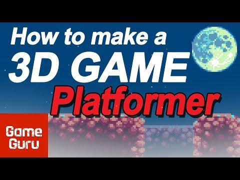 HOW 3D GAMES ARE MADE 3D side scroller platform game in GAME GURU - easy game engine