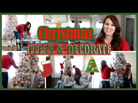 NEW CHRISTMAS CLEAN & DECORATE WITH ME | CHRISTMAS DECOR 2019 | Til Vacuum Do Us Part