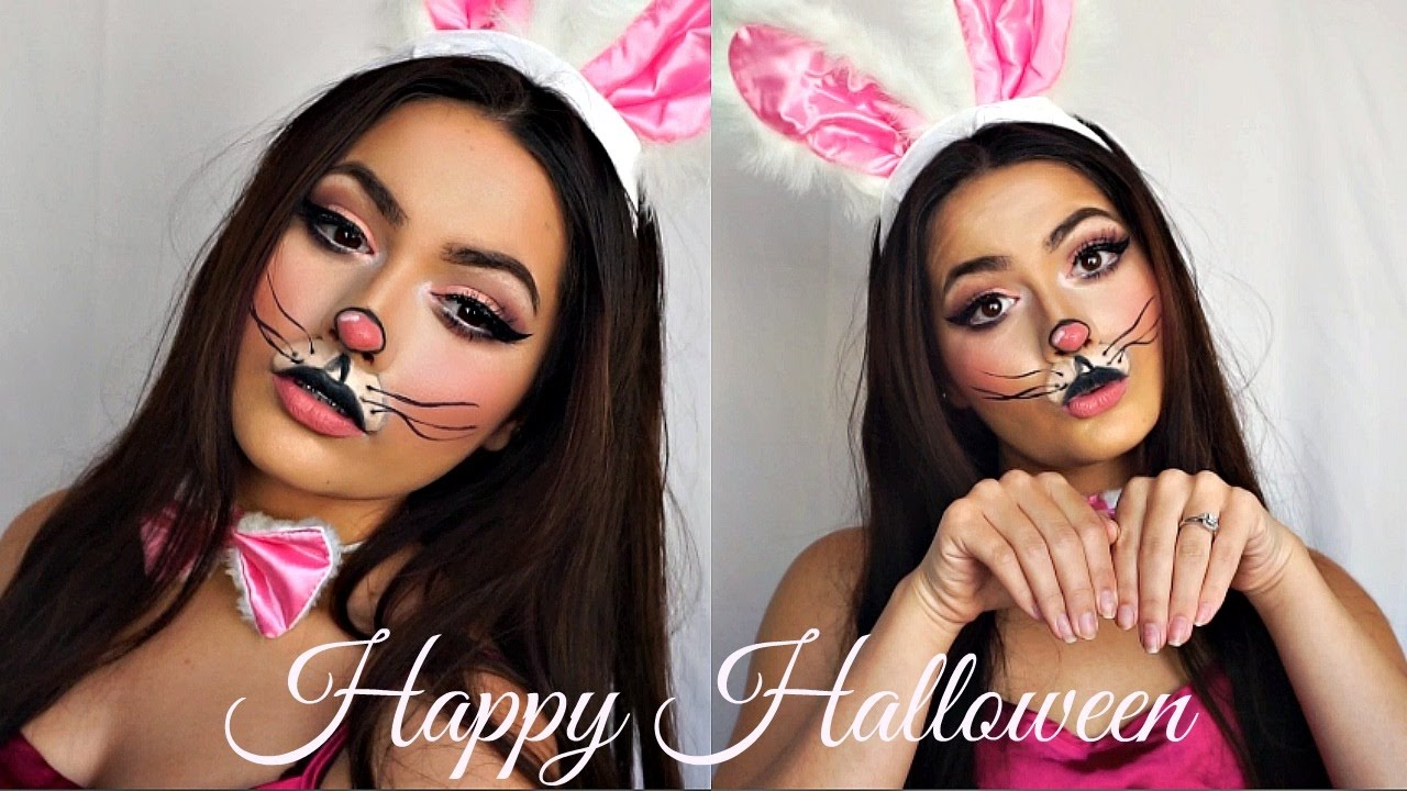 Cute Bunny Makeup Tutorial | Halloween - YouTube