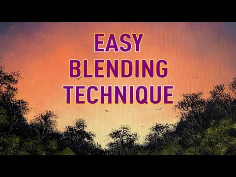 How to Blend Using Acrylics - Simple Acrylic Blending Technique (ColorByFeliks)