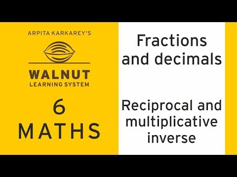 6 Math - Fractions And Decimals - Reciprocal And Multiplicative Inverse