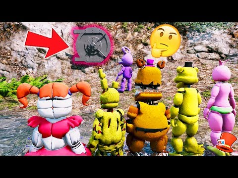 GUESS WHAT'S IN THE SECRET DOOR! (GTA 5 Mods For Kids FNAF RedHatter)