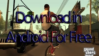 [Hindi] How To Download GTA San Andreas in Android For Free ( 2016 )
