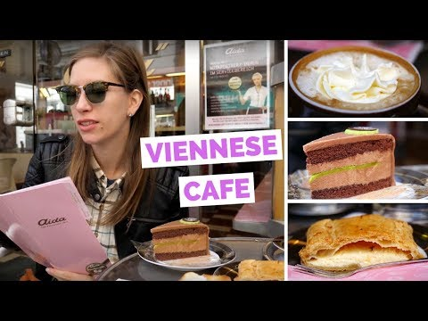 Viennese Café - Eating Austrian Cake and Coffee for Breakfast in Vienna, Austria