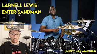 Drum Teacher reacts to 'Larnell Lewis Hears Enter Sandman For The First Time'