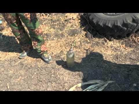 Разбомбленная часть ВСУ КПП Красный Октябрь 20 августа14