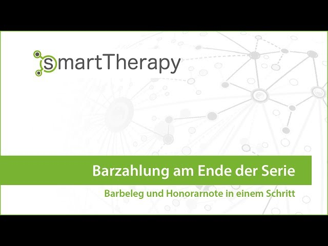 Barzahlung am Ende der Therapieserie