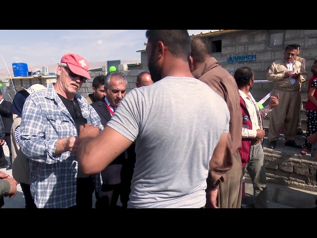 تەواو کردنی 19 شێڵتەری نیشتەجێ بون بۆ پەنابەرانی سوریا لە کەمپی باسرمە