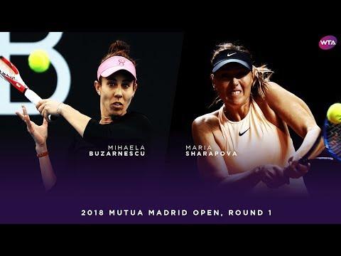 Maria Sharapova vs. Mihaela Buzarnescu   2018 Mutua Madrid Open First Round   WTA Highlights