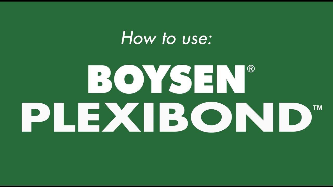 How To Use Boysen Plexibond Youtube