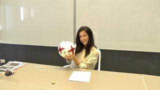 Нюша провела футбольный урок  в Иннополисе
