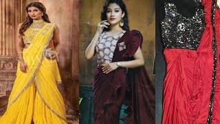 Readymade Saree Collection | One Minute Saree | Easy To Wear  Sarees | indo Westren Sarees Design