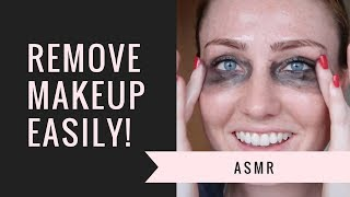 ASMR - Remove Makeup Easily with Oil Soft Spoken  Whispered