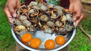 Crabs Crabs ! Yummy Crispy Crabs With Eggs