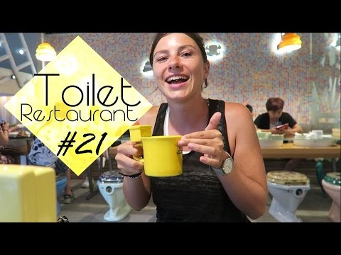 Toilet Restaurant - Videodreh mit anderem Youtuber - Backpacking Taiwan #21