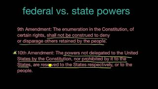 The 10th and 14th Amendments in relation to federal and state powers