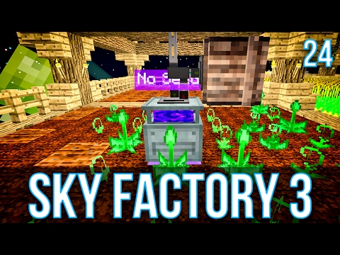 AUTOMATING MYSTICAL AGRICULTURE | SKY FACTORY 3 | EPISODE 24