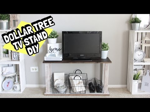 DOLLAR TREE TV STAND DIY REAL WOOD STURDY