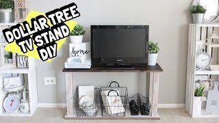 MUST WATCH DOLLAR TREE TV STAND DIY REAL WOOD STURDY
