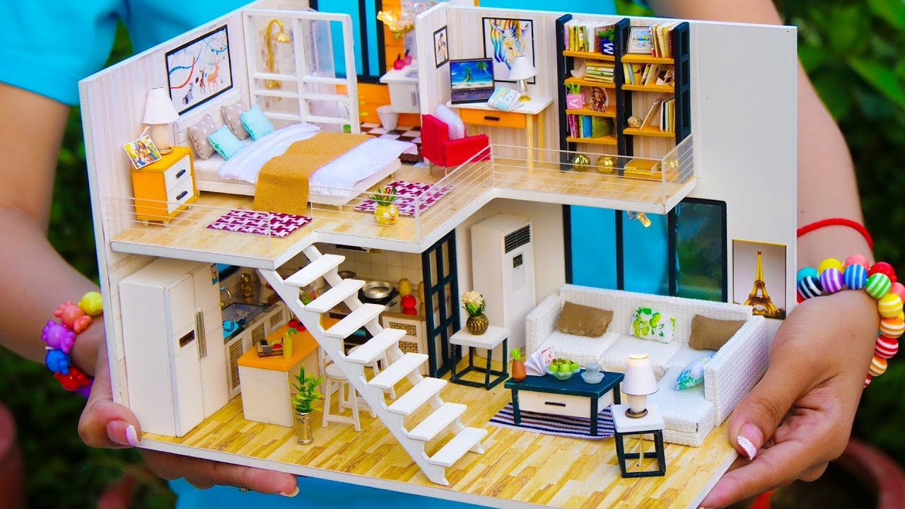 5 Diy Miniature Doll House Rooms Youtube