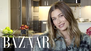 Hailey Bieber's Guide to Skincare, Minimal Makeup & Self-Care | BAZAAR Beauty Q&A | Harper's BAZAAR