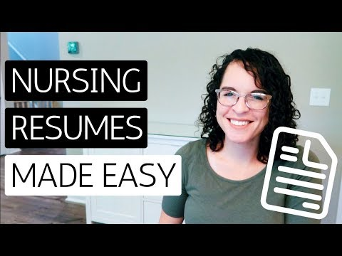 HOW TO WRITE A NURSING RESUME