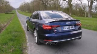 Audi S4 (B9) V6T, son du moteur en roulage et accélération
